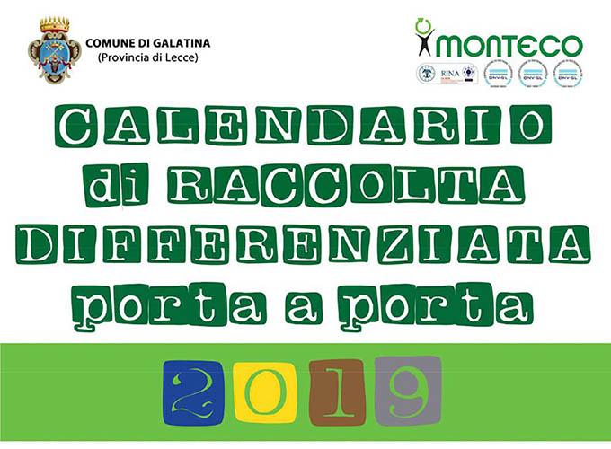 Monteco Calendario Galatina 2021 Città di Galatina   CALENDARIO 2019   RACCOLTA DIFFERENZIATA PORTA
