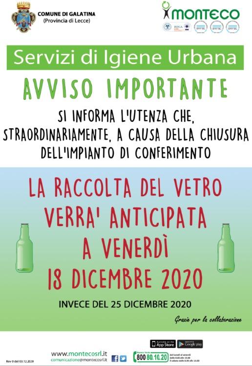 Monteco Calendario Galatina 2021 Città di Galatina   Raccolta differenziata dei rifiuti